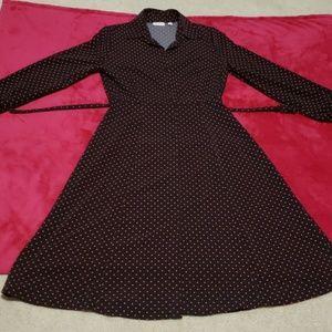 Eva Mendes polka dot dress